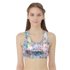 Softly Floral C Sports Bra with Border