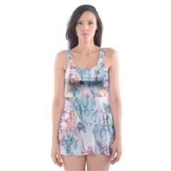 Softly Floral C Skater Dress Swimsuit