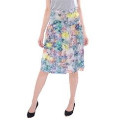 Softly Floral C Midi Beach Skirt