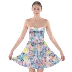 Softly Floral C Strapless Bra Top Dress