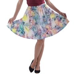 Softly Floral C A-line Skater Skirt