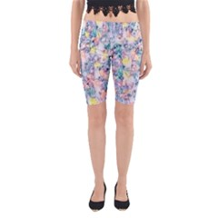 Softly Floral C Yoga Cropped Leggings