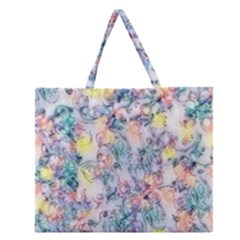 Softly Floral C Zipper Large Tote Bag