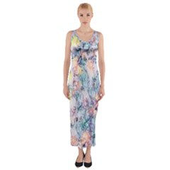 Softly Floral C Fitted Maxi Dress