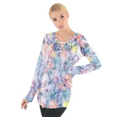 Softly Floral C Women s Tie Up Tee