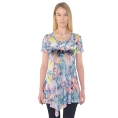 Softly Floral C Short Sleeve Tunic