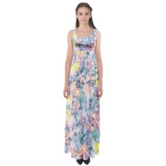 Softly Floral C Empire Waist Maxi Dress