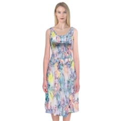 Softly Floral C Midi Sleeveless Dress