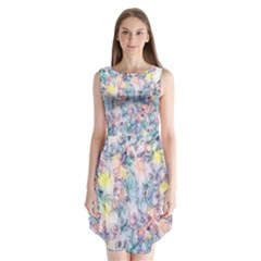 Softly Floral C Sleeveless Chiffon Dress