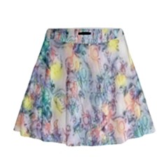 Softly Floral C Mini Flare Skirt