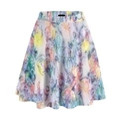 Softly Floral C High Waist Skirt