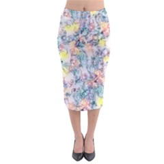 Softly Floral C Midi Pencil Skirt