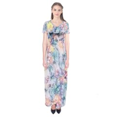 Softly Floral C Short Sleeve Maxi Dress