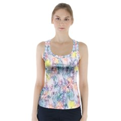 Softly Floral C Racer Back Sports Top