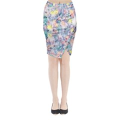 Softly Floral C Midi Wrap Pencil Skirt
