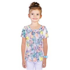 Softly Floral C Kids  One Piece Tee