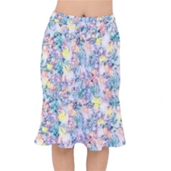 Softly Floral C Mermaid Skirt