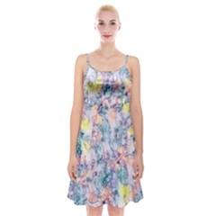 Softly Floral C Spaghetti Strap Velvet Dress