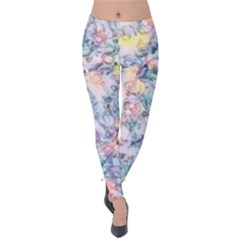 Softly Floral C Velvet Leggings