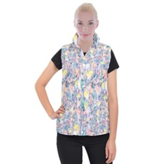 Softly Floral C Women s Button Up Puffer Vest
