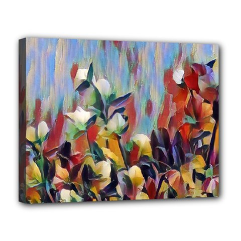 Abstractionism Spring Flowers Canvas 14  x 11