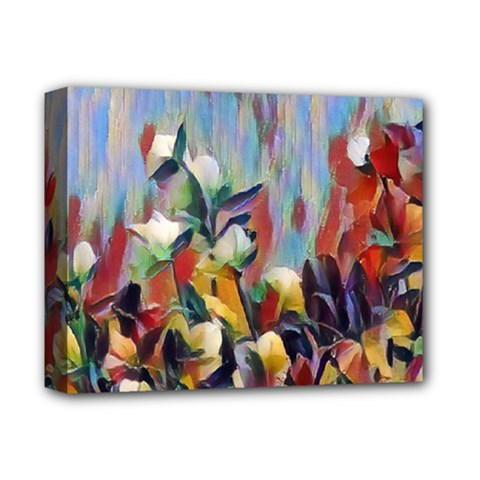 Abstractionism Spring Flowers Deluxe Canvas 14  x 11