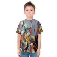 Abstractionism Spring Flowers Kids  Cotton Tee