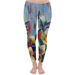 Abstractionism Spring Flowers Classic Winter Leggings