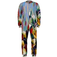 Abstractionism Spring Flowers OnePiece Jumpsuit (Men)