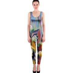 Abstractionism Spring Flowers OnePiece Catsuit