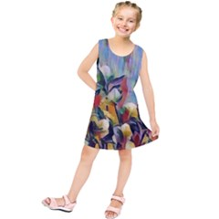 Abstractionism Spring Flowers Kids  Tunic Dress