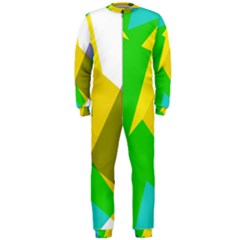 Green yellow shapes        OnePiece Jumpsuit (Men)