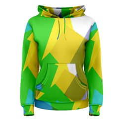 Green yellow shapes        Women s Pullover Hoodie