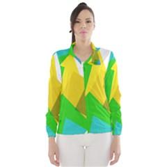 Green yellow shapes        Wind Breaker (Women)