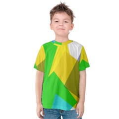 Green yellow shapes        Kid s Cotton Tee