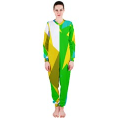 Green yellow shapes        OnePiece Jumpsuit (Ladies)