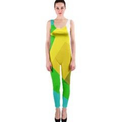 Green yellow shapes        OnePiece Catsuit