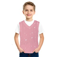 Pink background with white hearts on lines Kids  SportsWear