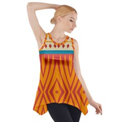 Shapes in retro colors       Side Drop Tank Tunic