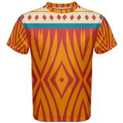 Shapes in retro colors       Men s Cotton Tee