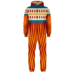 Shapes in retro colors       Hooded Jumpsuit (Men)