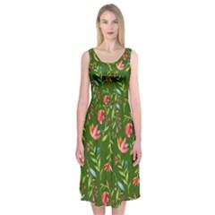 Sunny Garden I Midi Sleeveless Dress