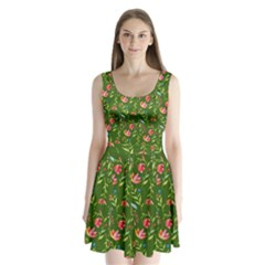 Sunny Garden I Split Back Mini Dress