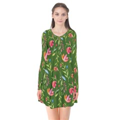 Sunny Garden I Flare Dress