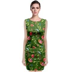 Sunny Garden I Sleeveless Velvet Midi Dress