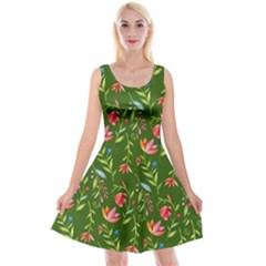 Sunny Garden I Reversible Velvet Sleeveless Dress