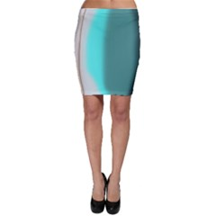 Turquoise Abstract Bodycon Skirt