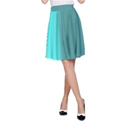 Turquoise Abstract A-Line Skirt