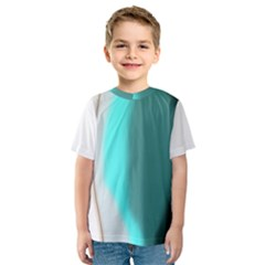 Turquoise Abstract Kids  Sport Mesh Tee
