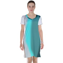 Turquoise Abstract Short Sleeve Nightdress